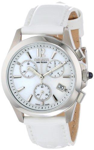 Golana Damen Armbanduhr XS Aura Chronograph Quarz Leder AU200 7