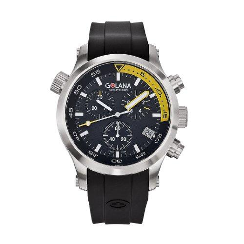 Golana Herren Chronograph Aqua Pro Swiss Made Divers AQ300 4