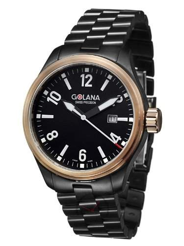Golana Terra Pro 100 PVD Herrenuhr Swiss Made mit Datum TE 1202