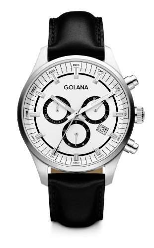 Golana Herren-Armbanduhr XL Terra Chrono Chronograph Leder TE400-3