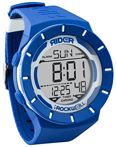 Rockwell Time Coliseum blau Fall weiss Zifferblatt Unisex Armbanduhr