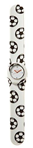 SlapStixx wasserdichte Quarzuhr mit Silikonarmband Slap oder WrapWatch moderne und trendige Uhr Fussball