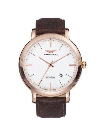 Uhr Sandoz 81387 87 Swiss Made Herren IP rose