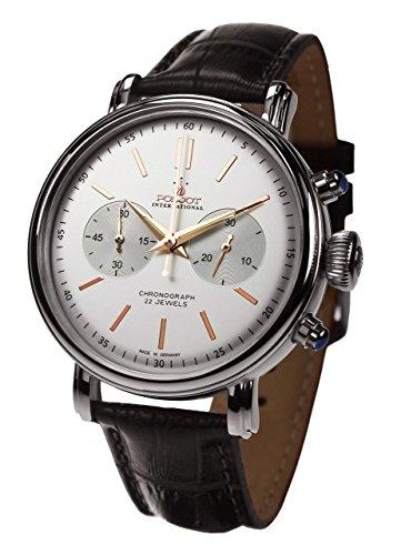 POLJOT Int Chronograph Classic Handaufzug Mechanisch Lederband Russian Watch