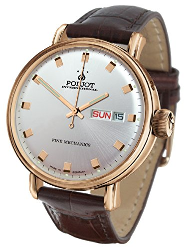 POLJOT Int New Yaroslavl Gold Tag Datum Daydate Mechanisch Lederband Russian Watch