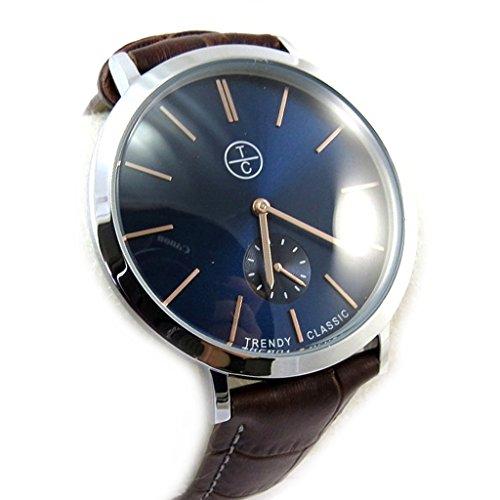 Armbanduhr french touch Trendyblau braun slim