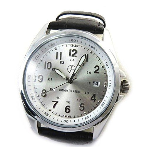 Armbanduhr french touch Trendyschwarz silberfarben