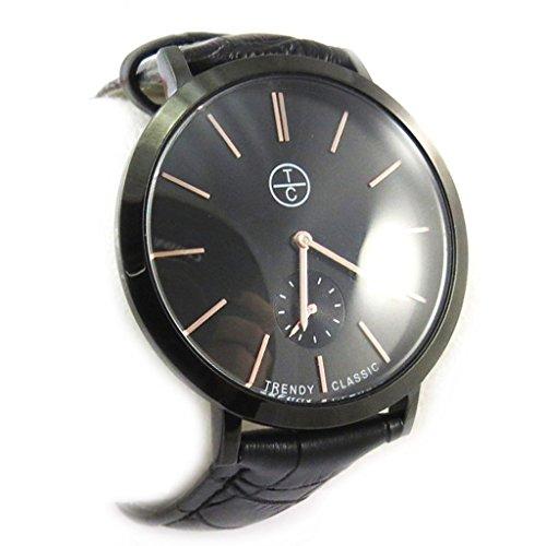 Armbanduhr french touch Trendyschwarz slim