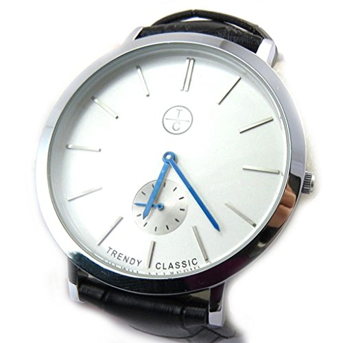 Armbanduhr french touch Trendysilberfarben schwarz slim