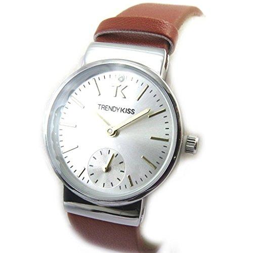 Armbanduhr fuer frauen Trendysilberfarben braun
