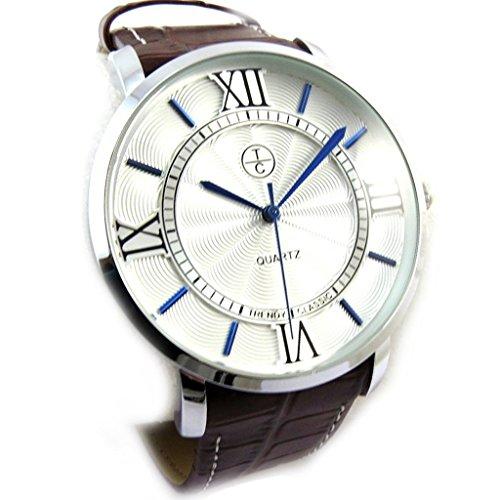 Armbanduhr fuer maenner Trendysilberfarben braun