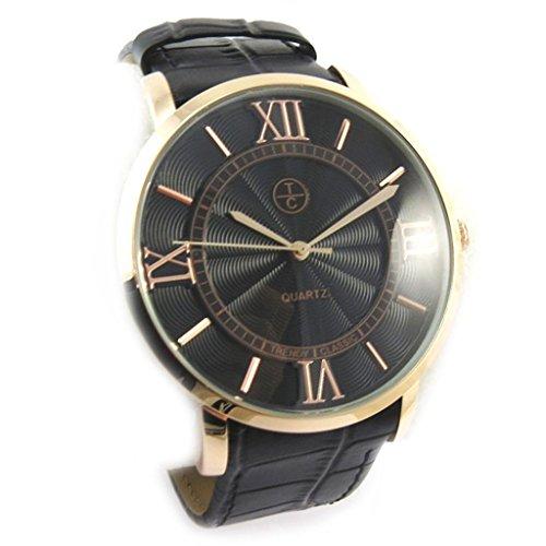 Armbanduhr fuer maenner Trendyschwarz goldfarben rosa