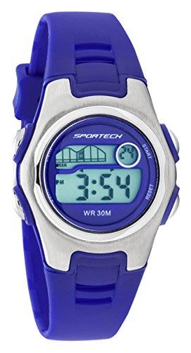 Sportech Digitaluhr Damen Armband dunkelblau wasserbestaendig SP10218