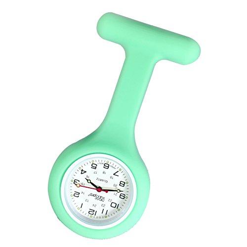 Mint Krankenschwestern Revers Armbanduhr Silikon Infektionskontrolle