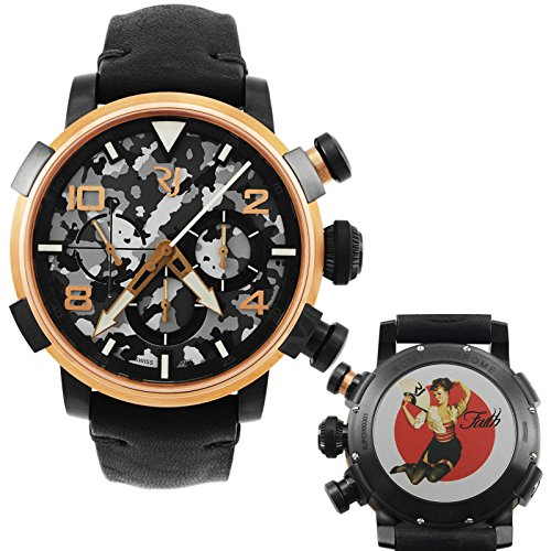 Romain Jerome Pinup DNA rot gold WWII Faith Fan Chronograph Automatik RJ P Ch 003 01