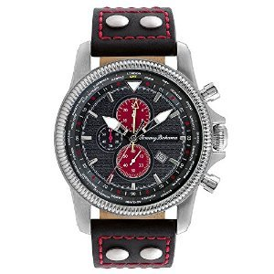 Tommy Bahama Herren 10018325 Paradise Pilot Dual Time Chronograph Analog Display Japanisches Quartz Black Watch