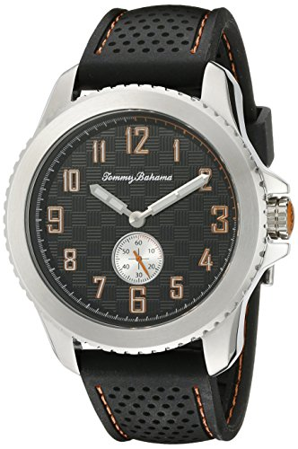 Tommy Bahama Relax Herren 10018377 Kona Grand Prix Chronograph Land Analog Display Japanisches Quartz Black Watch