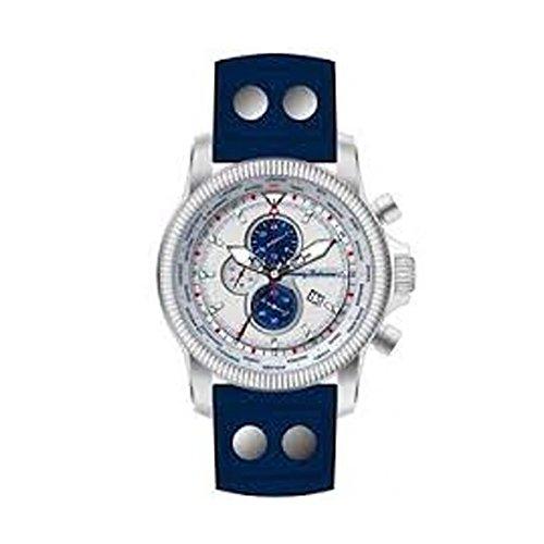 Tommy Bahama Relax Herren 10022901 Paradise Pilot Dual Time Chronograph Air Analog Display Japanische Quarz blau Armbanduhr