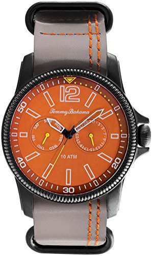 Tommy Bahama Relax Herren 10024830 Paradise Pilot Multifunktions Air Analog Display Japanisches Quarz Grau Armbanduhr