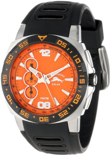 Tommy Bahama RELAX Mens RLX1190 Wave Jumper Round Orange Dial Watch
