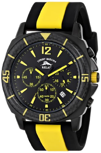 Tommy Bahama RELAX Mens RLX1232 Tallahassee Analog Display Japanese Quartz Yellow Watch