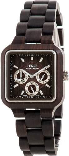 TENSE Mens Summit Premium Holzuhr B7305D - Natuerliches Sandelholz B7305D