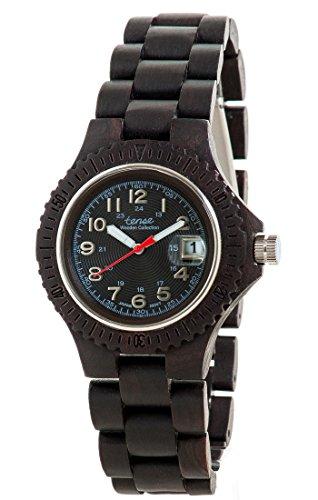 Holzuhr TENSE Womens Compass Premium L4100D B Natuerliches Sandelholz L4100D B