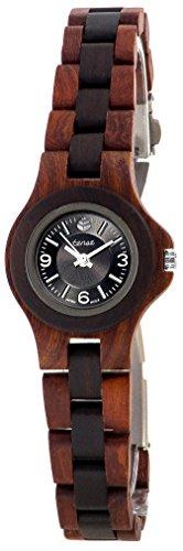 Holzuhr TENSE Womens Northwest Premium L4300RD BSIL Natuerliches Rosenholz Sandelholz L4300RD BSIL