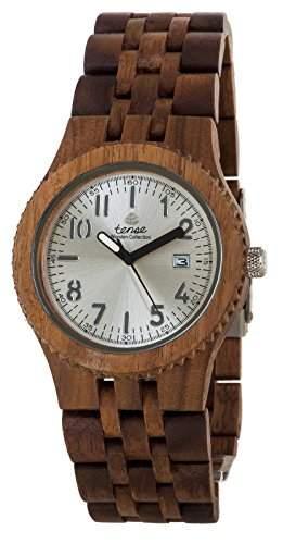 TENSE Mens Yukon Premium Holzuhr J5200W - Natuerliches Walnuss Holz J5200W