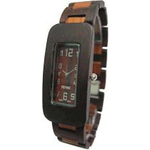 Tense Solide Sandelholz Herren Curved Regelmaessige Wood Watch G8221DS hypoallergene