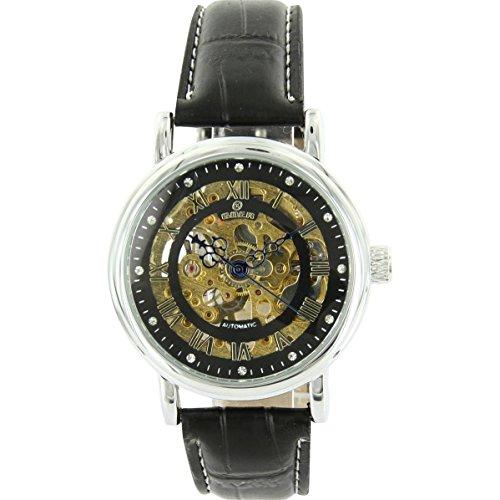 Uhren automatische Mechanische Leder Schwarz XXL 2170