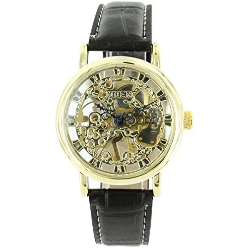 Uhren automatische Mechanische Leder Schwarz XXL 2121