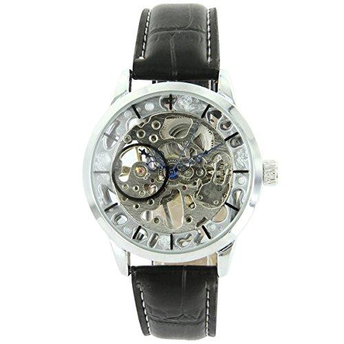Uhren automatische Mechanische Leder Schwarz XXL 2119