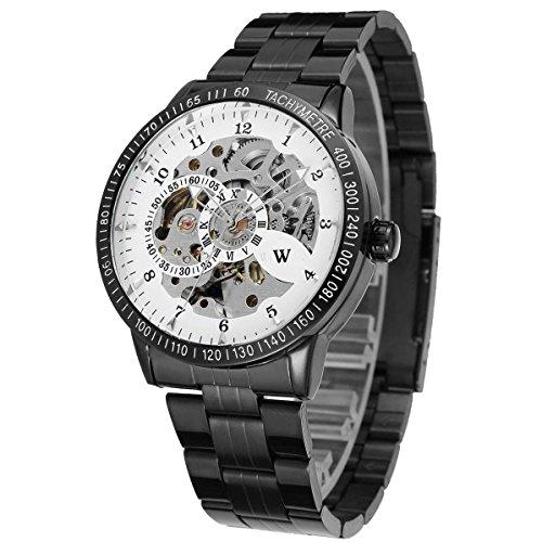 Uhren automatische Herren Automatik Stahl schwarz W3