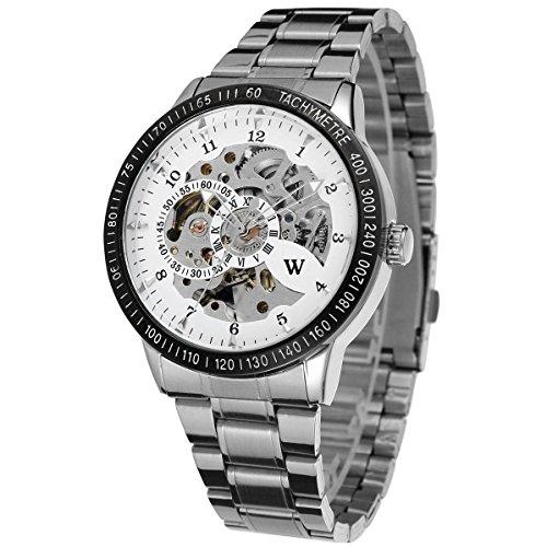 Uhren automatische Herren Automatik Stahl Silber W1