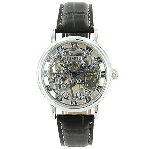 Uhren automatische Herren mechanische Leder schwarz XXL 2177