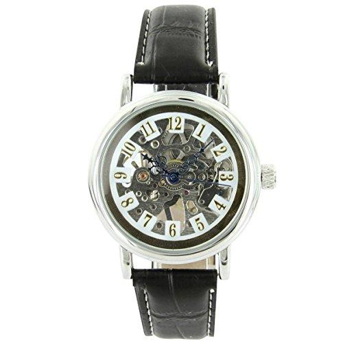 Uhren automatische Mechanisch mit Leder schwarz XXL 2185