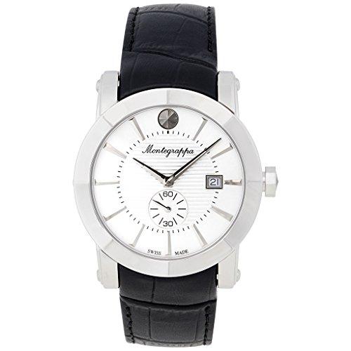 Montegrappa Nero Uno Uhr Schweizer Quartz Uhrwerk Ronda 6004 IDNUWAIW