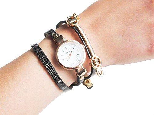 Braun Vintage Armbanduhr fuer Sie Gurt Fashion Leder Uhr Geschenk Tasche enthalten