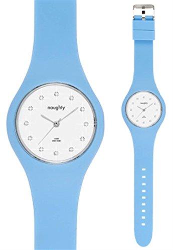 Zeigt Damen Swarovski Silikon Blau Naughty 8