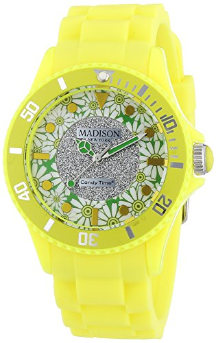 MADISON NEW YORK Candy Time Flower Power Analog Quarz Silikon U4617 21