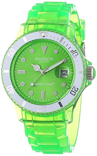 MADISON NEW YORK Unisex Armbanduhr Candy Time Jelly Mix Analog Quarz Plastik U4631 10 1