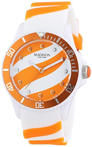 MADISON NEW YORK Unisex Armbanduhr Candy Time Lollipop Analog Quarz Silikon U4620 04