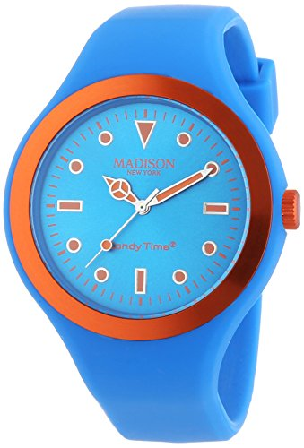 MADISON NEW YORK Unisex Armbanduhr Candy Time Nordic Design Analog Quarz Silikon U4744 79