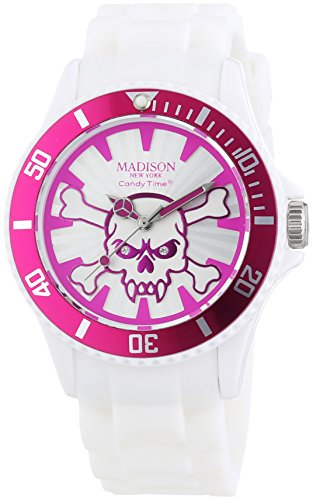MADISON NEW YORK Unisex Armbanduhr Candy Time Stay Alive Analog Quarz Silikon U4618 05