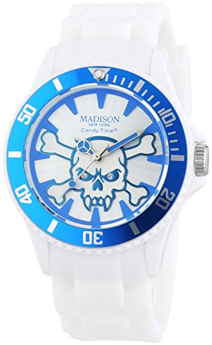 MADISON NEW YORK Unisex Armbanduhr Candy Time Stay Alive Analog Quarz Silikon U4618 06