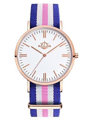 Armbanduhr Sailor Classic Port Side mit Armband aus Nylon