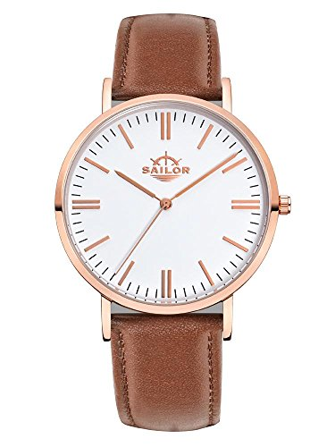Armbanduhr Sailor Classic Basic brown mit Armband aus Leder