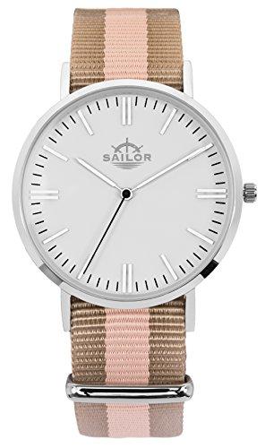 Armbanduhr Sailor Classic Habour silber mit Armband aus Nylon