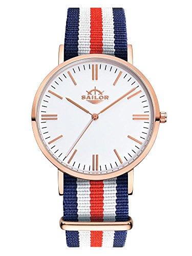 Armbanduhr Sailor Classic Marine mit Armband aus Nylon